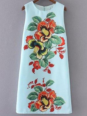 Full Floral Round Collar Sundress